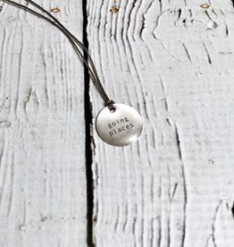 "Going Places Mini Type Necklace on 16"" Cord"
