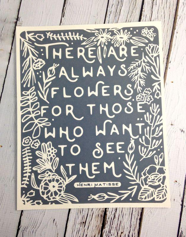 Always Flowers Print 8X10