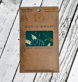 Oceans Print Assorted Size 3 Pack Bee's Wax Wraps