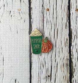 Pumpkin Spice Latte Enamel Pin