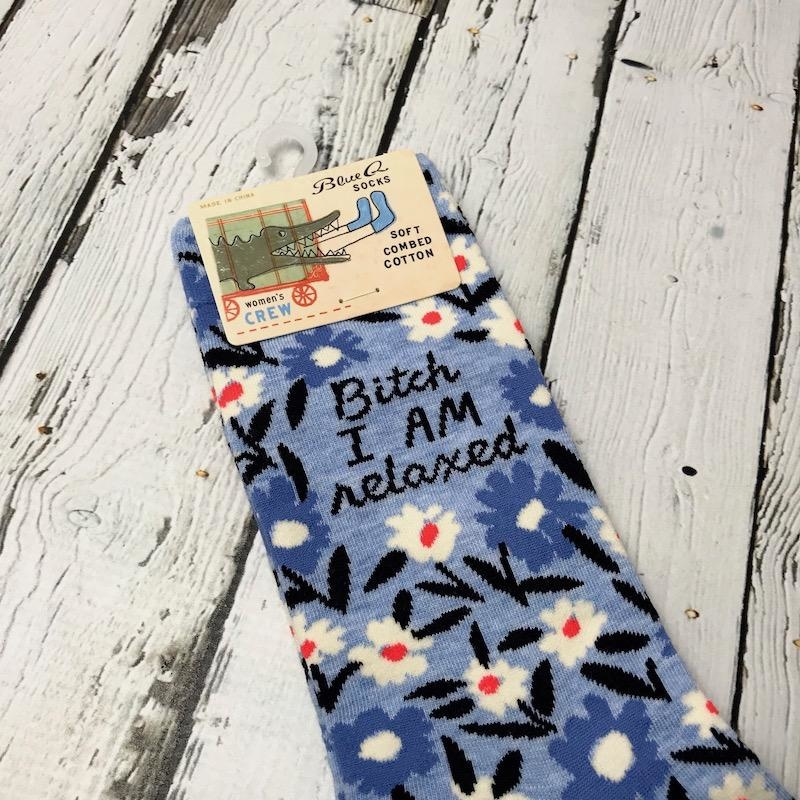 Bitch I Am Relaxed Women's Crew Socks