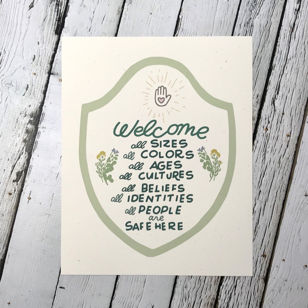 Welcome All Print