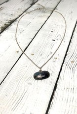 Handmade Silver Necklace with Rose cut Sapphire