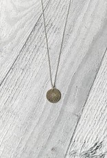 """Handmade ALWAYS   16 & 18"""" sterling silver diamond dusted mini coin necklace"""