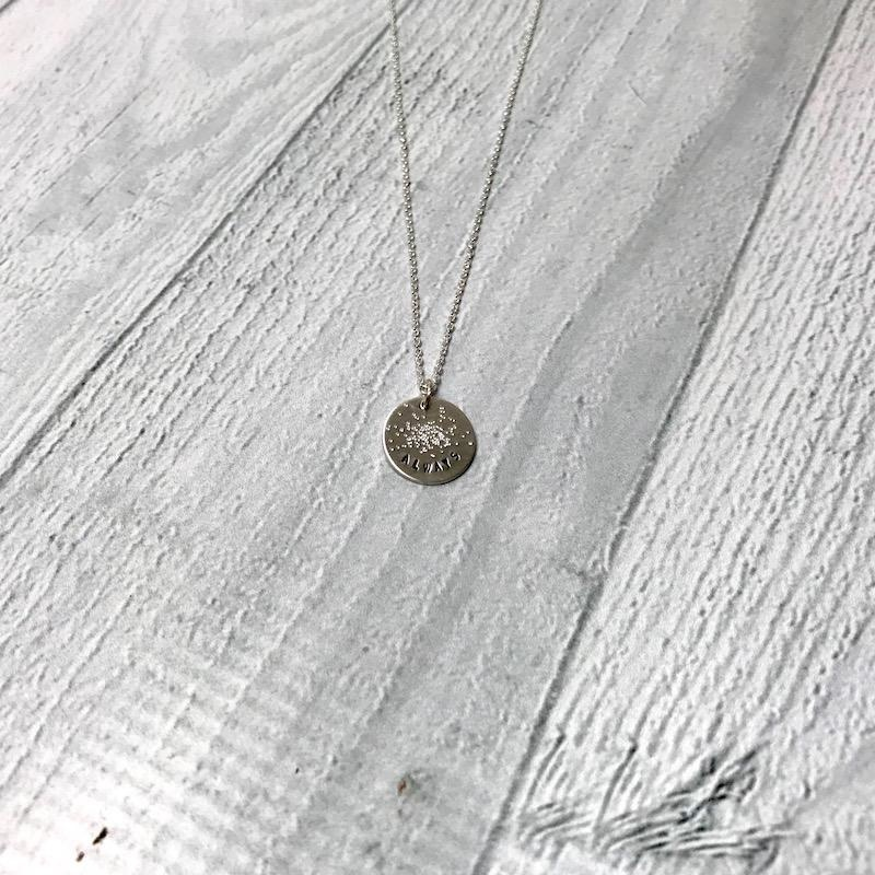 "Handmade ALWAYS | 16 & 18"" sterling silver diamond dusted mini coin necklace"