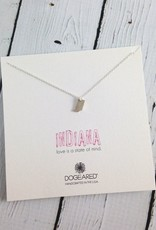 Sterling Silver Tiny Indiana State Charm Necklace