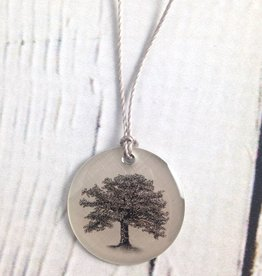 "Sterling Silver ""Oak Tree"" Necklace"
