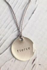 "Fierce Mini Type Necklace on 16"" Cord"
