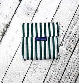 Green Hunter Stripe Standard Baggu