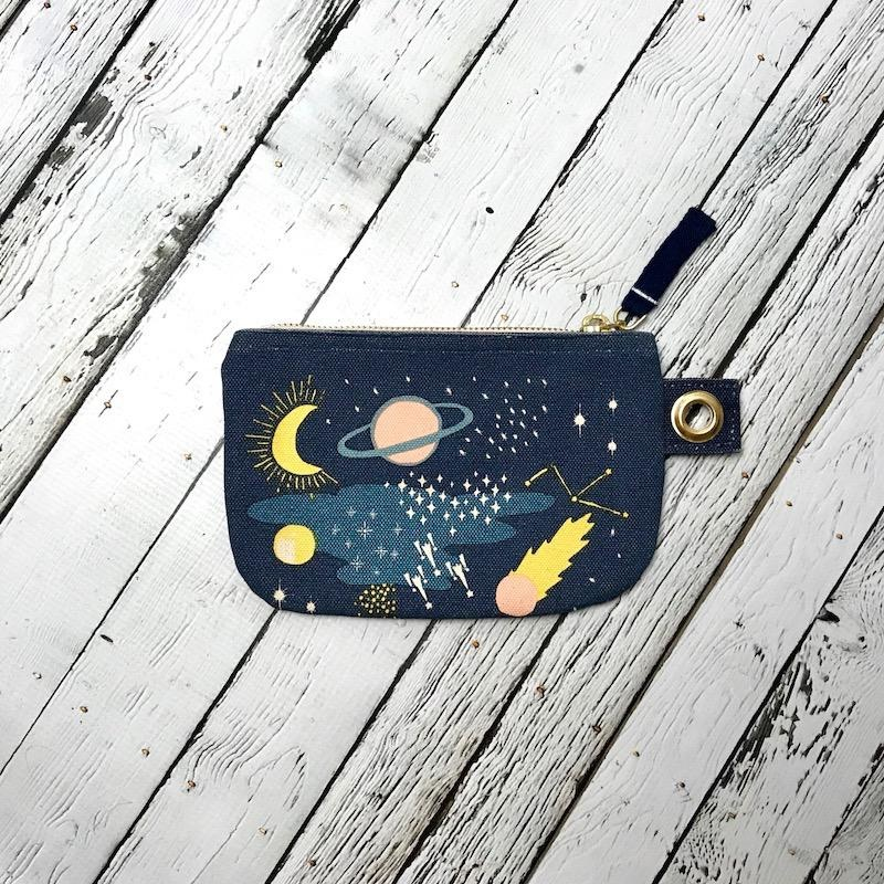 Cosmic Small Zipper Pouch