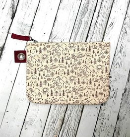 Stay Wild Large Zipper Pouch