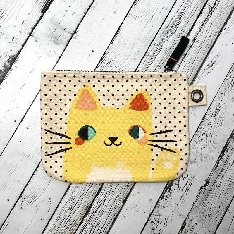 Meow Meow Large Zipper Pouch