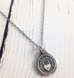 Figs&Ginger You Hold my Heart Charm Necklace made of Recycled Sterling Silver