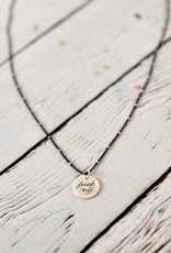 "Handstamped 18"" Silver ""fuck off"" Charm Necklace"