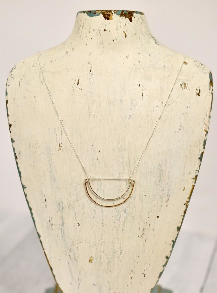 Handmade Silver Rise Necklace, 24""
