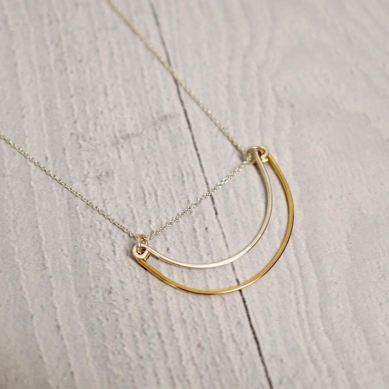 Handmade Silver Rise Necklace, 18""