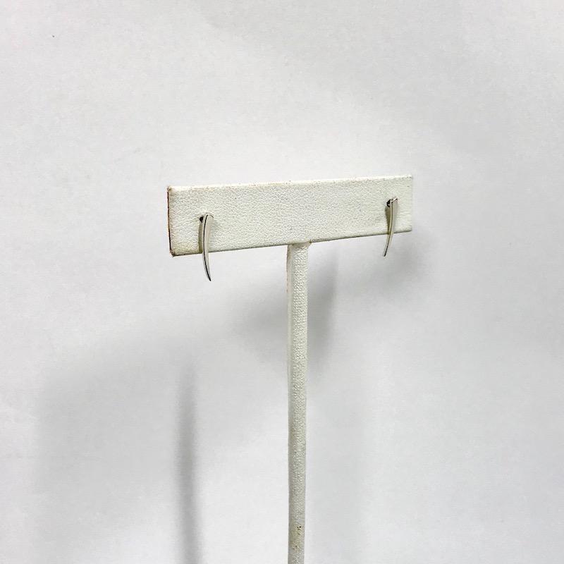 Sterling Silver Tapered Bar Crawler Post Earrings