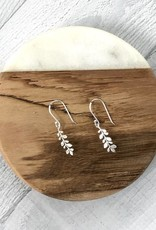 Sterling Silver Leaf Vine Dangle Earrings