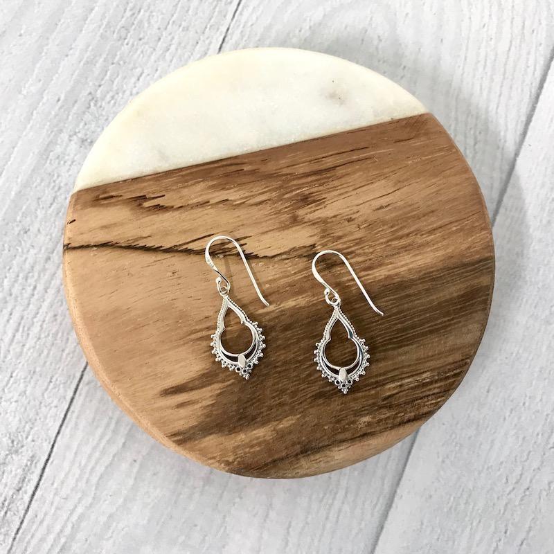 Sterling Silver Persian Window Earrings