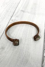 Copper Cuff Bracelet with Electroformed Tourmaline Stones
