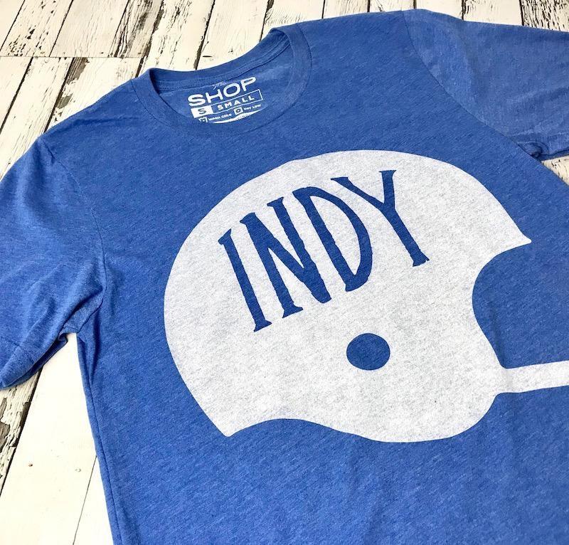 Indy Football Helmet Tee
