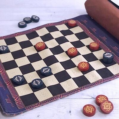 Pendleton Chess & Checkers:Travel-Ready Roll-Up Game