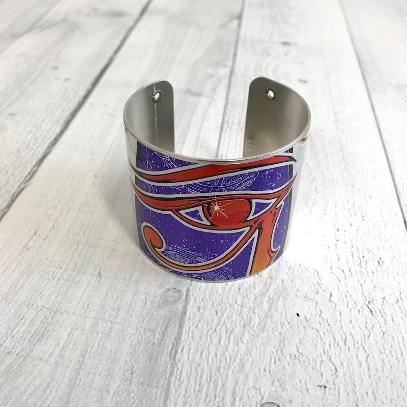 """2"""" Cuff Bracelet made from Upcycled Beer Cans, Osirus"""