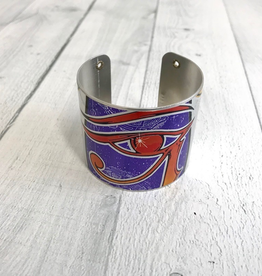 "2"" Cuff Bracelet made from Upcycled Beer Cans, Osirus"