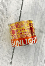 """2"""" Cuff Bracelet made from Upcycled Beer Cans, Sunlight Cream Ale"""
