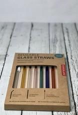 Colorful Reusable Glass Straws