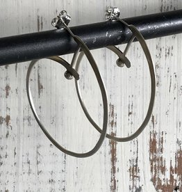 Handmade Silver Modern Circle Earrings