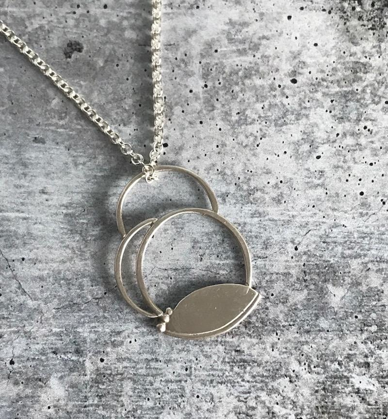 Handmade Silver Abstract Clouds Necklace