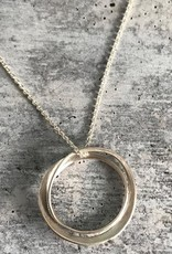 Handmade Silver Modern Double Circle Necklace