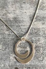 Handmade Silver Semi Spiral Necklace
