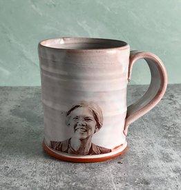 Handmade Elizabeth Warren Screen Print Face Mug