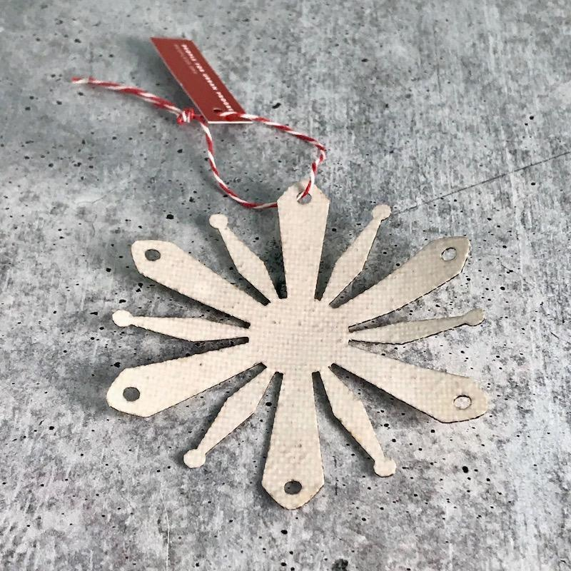 RCA dome flake ornament