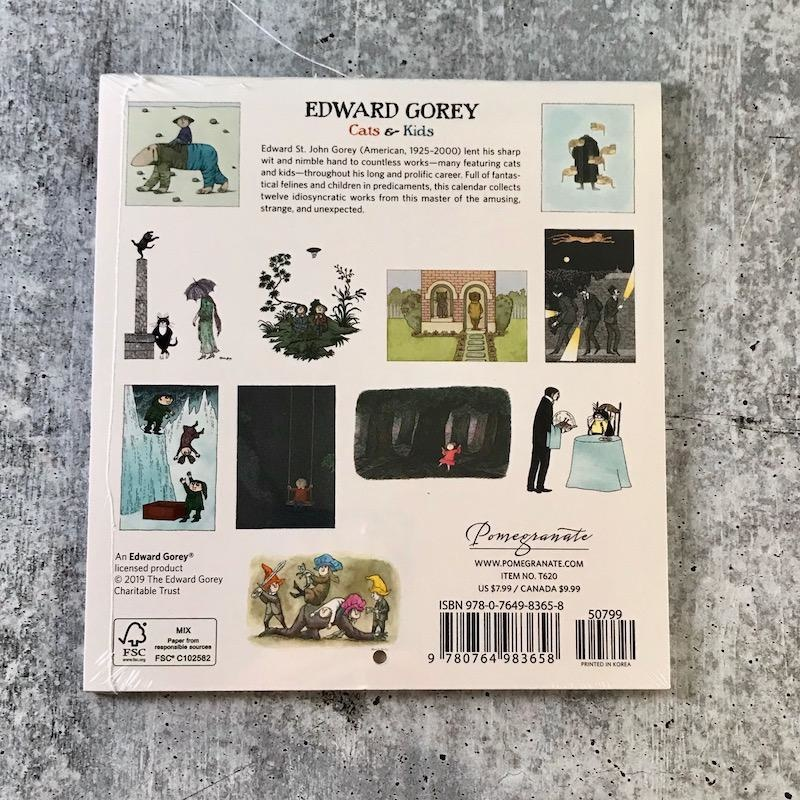 2020 Mini Wall Calendar: Edward Gorey: Cats and Kids