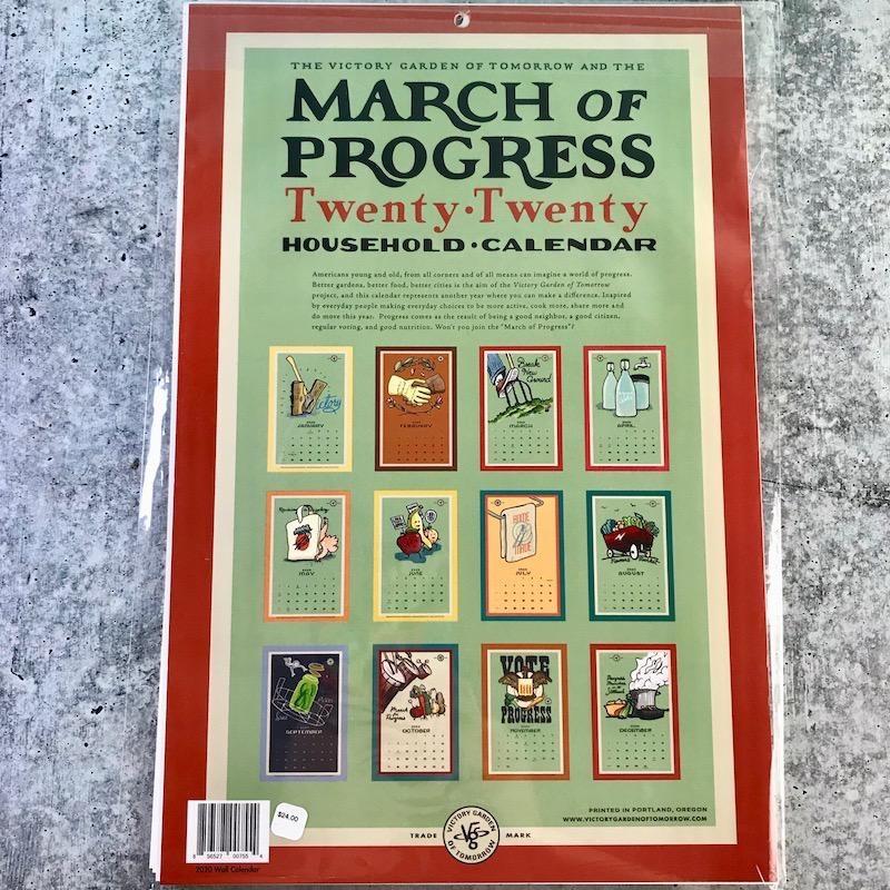 The Victory Garden of Tomorrow: March for Progress 2020 Calendar