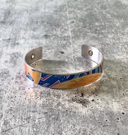 "1/2"" Cuff Bracelet made from Upcycled Beer Cans, Sun King"