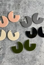 Modern J Stud Earrings made from Rescued Architectural Materials