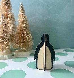 Individual wooden penguin