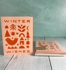 Winter Wishes Collage Card Boxed Set of 6