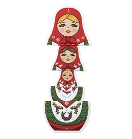 MoMA Merry Matryoshka Holiday Cards, Set/8