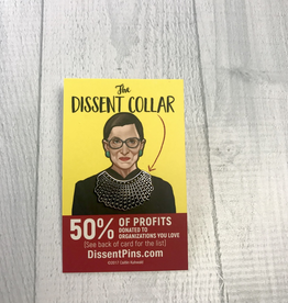 RBG Dissent Collar Enamel Pin