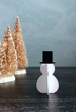 Small Wooden Snowman