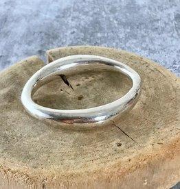 Sterling Silver Tapered Bangle Bracelet
