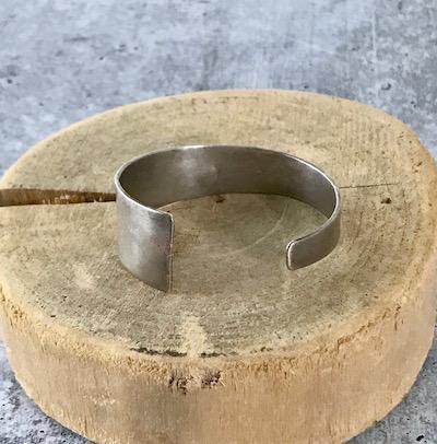 Handmade Matte Sterling Silver Tapered Cuff Bracelet by Julia Britell Designs
