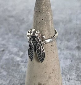 Sterling Silver Cicada Ring, Size 6