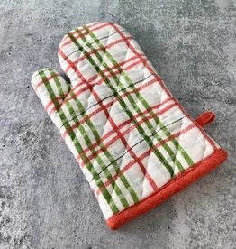 Holiday Cotton Plaid Hot Mitt