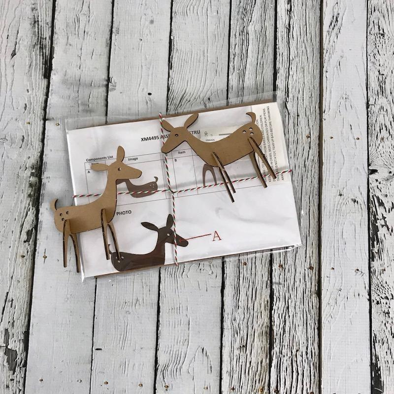 "7-3/4""L x 6""H Kraft Paper Pieced Deer"